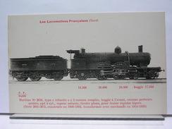 """LES LOCOMOTIVES FRANCAISES (NORD) - MACHINE N° 2656 TYPE """"ATLANTIC"""" A 2 ESSIEUX COUPLES - Trains"""