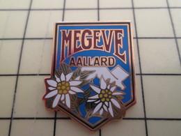 Pin711e Pin's Pins : Rare Et Belle Qualité : VILLES / MEGEVE ALLARD ALPES EDELWEISS 1992 - Cities