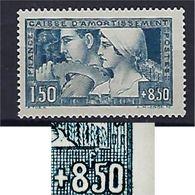 "FR YT 252b TIII "" Caisse D'amortissement "" 1928 Neuf* - France"