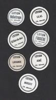 Lot De 7 Petites Etiquettes De Lotions Pour Cheveux  -  Ch. Grant Parfumeur à Paris - Labels