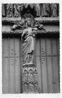 AMIENS - N° 35 - LA CATHEDRALE NOTRE DAME - TRUMEAU DE LA PORTE DE LA VIERGE - Cliché R. LELONG - FORMAT CPA NON VOYAGEE - Amiens