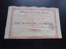 KOUANGO FRANCAIS (part Bénéficiaire) 1918 - Shareholdings