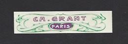 Etiquette   -  Ch. Grant Parfumeur à Paris - Labels