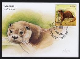 ESTONIA 2015 MAXIMUM CARD Estonian Fauna – Otter (Lutra Lutra) - Other