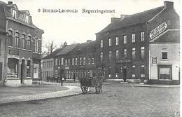CPA / PK / AK   -  BOURG - LEOPOLD   Regeeringstraet   ( Hotel , Restaurant , Attelage ) - Leopoldsburg