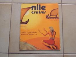 BROCHURE DÉPLIANT PIEGHEVOLE PUBBLICITARIO CROCIERA SUL NILO EGITTO NILE CRUISES ANGLO AMERICAN TOURIST - Books, Magazines, Comics