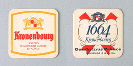 Brasserie KRONENBOURG, Gambrinus France 1984 (Sous-bock Beermat Coaster Bierdeckel Bierviltje) - Sous-bocks