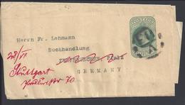 GR-BRETAGNE -1902 - Half Penny Edouard VII Entier Postal Bande Journal Pour Zweibruecken, Redirigé Vers Sttutgard - B/TB - Stamped Stationery, Airletters & Aerogrammes