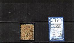 FRANCE  N°86 OBLITERE - 1876-1898 Sage (Tipo II)