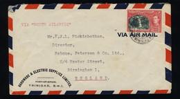 (Ref #00077)  TRINIDAD & TOBAGO - 1946 SG254 60c Single On Air Mail Cover To Birmingham, ENgland - Trinité & Tobago (...-1961)