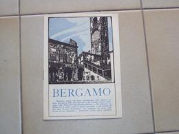 BROCHURE DÉPLIANT PIEGHEVOLE PUBBLICITARIO BERGAMO LOMBARDIA ENTE AUTONOMO FERROVIE DELLO STATO - Libri, Riviste, Fumetti