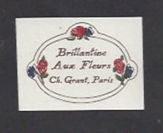 Etiquette De Brillantine Aux Fleurs  -  Ch. Grant Parfumeur à Paris - Labels