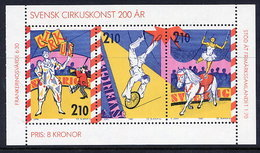 SWEDEN 1987 Circus Bicentneary MNH / **.  Michel 1450-52 - Unused Stamps