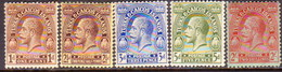 TURKS AND CAICOS ISLANDS 1922-25 SG #164//173 Part Set 5 MH Stamps Of 12 With Wmk Mult.Script CA - Turks And Caicos