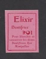 Etiquette D'Elixir Dentifrice  -  Roi à Montpellier  (34) - Labels