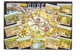 10 Aube Carte Géographique Du Département 12 Vues De Ville Mussy Chaource Les Riceys Aix En Othe Blason CPSM GF - France