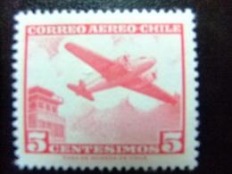 CHILE 1960 Bimoteur Et Tour De Contrôle Yvert PA 204 B ** MNH - Chile