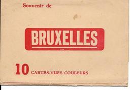 Bruxelles Carnet Reste 7 Cartes Couleur - Brussel (Stad)