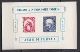 Guatemala, 1949, UPU, Block, MH* - Guatemala