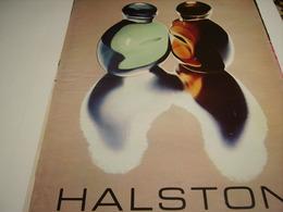 ANCIENNE AFFICHE  PUBLICITE PARFUM HALSTON  1980 - Parfums & Beauté