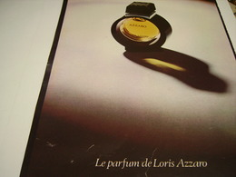 ANCIENNE AFFICHE  PUBLICITE PARFUM AZZARO  1980 - Unclassified