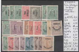 LOT DE TIMBRES DE THRACE NEUF /  * / (*) / ° / Nr VOIR SUR PAPIER AVEC TIMBRES COTE   12.10 € - Bulgarie