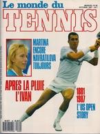 LE MONDE DU TENNIS - Poster De MARTINA NAVRATILOVA (Octobre 1987) - Sport