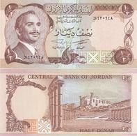 Jordan - 1/2 Dinar 1975 - 1992 XF+ Pick 17c UNC Ukr-OP - Jordan