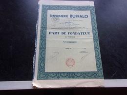 IMPRIMERIE BUFFALO (fondateur) - Shareholdings