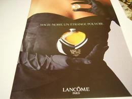 ANCIENNE AFFICHE  PUBLICITE PARFUM MAGIE NOIRE DE LANCOME 1987 - Perfume & Beauty