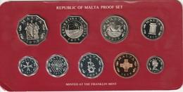 Republic Of Malta Proof Set - 2 Mils- 50 C - 1977 - Malta
