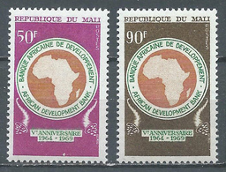 Mali YT N°129/130 Banque Africaine De Développement Neuf ** - Mali (1959-...)