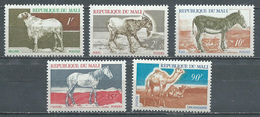 Mali YT N°124/128 Animaux Neuf ** - Mali (1959-...)