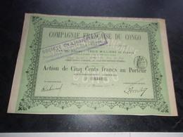 Compagnie Française Du Congo - Shareholdings