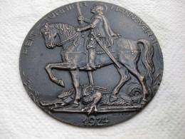 Médaille Tournoi équestre HANNOVE 1924 .Saint Georges Terrassant Le Dragon - Allemagne