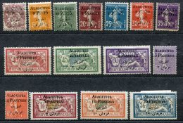 6580   ALAOUITES    N° 1/15  *   Timbres De France De 1900-24 Surchargés      1925    B/TB - Nuovi
