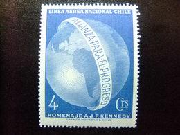 CHILE 1963 Homenaje A J. F. KENNEDY Yvert PA 217 ** MNH - Chile