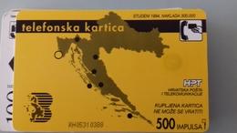 TELECARTE CROATIE 500 UNITES - 1994 - BRIJUNI - Croatie