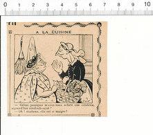 2 Scans De 1909 Humour Vendredi Saint Côtelette Viande Maigre Poule écrasée Sur La Route  51C13 - Alte Papiere