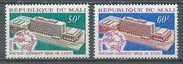 Mali YT N°135/136 Nouveau Batiment Siège De L'U.P.U. Neuf ** - Mali (1959-...)