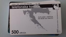 TELECARTE CROATIE 500 UNITES - 1995 - PET STOTINA - Croatie