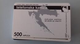 TELECARTE CROATIE 500 UNITES - 1995 - PET STOTINA - Kroatien