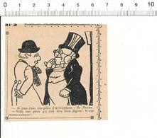 2 Scans De 1909 Humour Pièce (de Théatre) D'Aristophane Les Nuées  51C13 - Alte Papiere