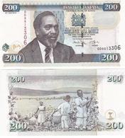 Kenya - 200 Shillings 2010 UNC Ukr-OP - Kenya