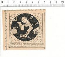 2 Scans De 1909 Humour Glaive De La Justice Prisonnier Enchaîné Prison Chaînes   51C13 - Alte Papiere