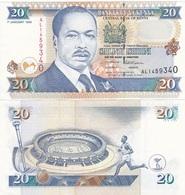 Kenya - 20 Shillings 1996 AUNC W/holes Ukr-OP - Kenya