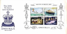 GE-01-007 - Anguilla FDC - Grande Enveloppe  - COB Bloc 15 -  -  - QUEEN ELISABETH 25 JAAR KRONING -  Du 9-2-1977 - 1,49 - Anguilla (1968-...)