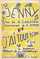 Jenny & J'ai Tout Perdu (A. Cardinal, A. Donfut, F. Tournelle) Ed. Musicales Rudo, Jemappes - Musique & Instruments