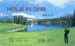Telefonkarte Japan - Landschaft,landscape - Berge,mountain - Golf - 110-145 - Landschaften