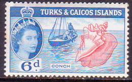 TURKS AND CAICOS ISLANDS 1957 SG #244 6d MNH - Turks And Caicos